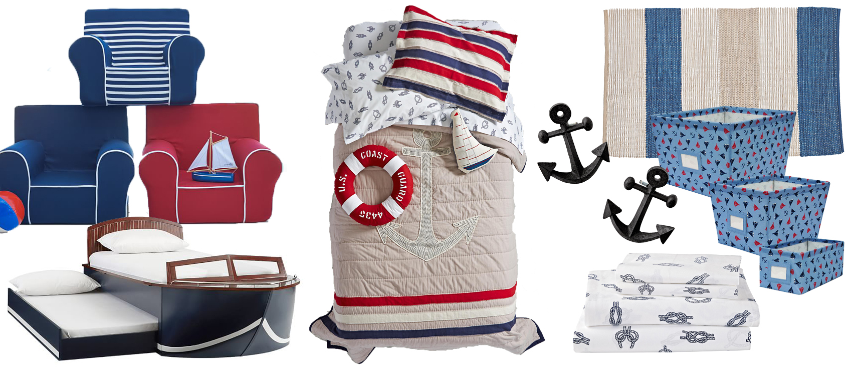 Boys Nautical Bedding & Room Decor