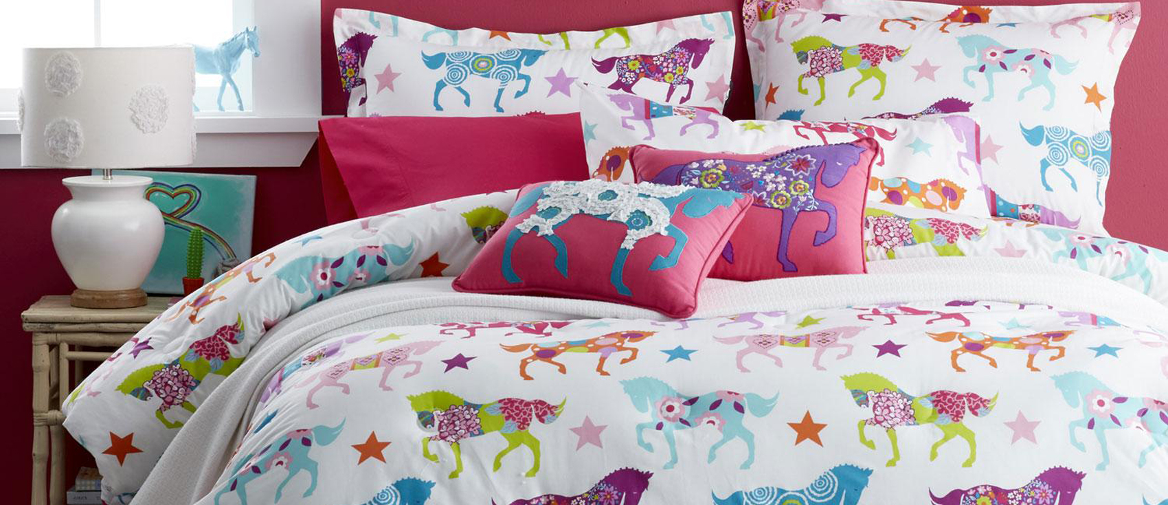 Girls Horse Bedding Cowgirl Theme Bedroom Pony Bedding