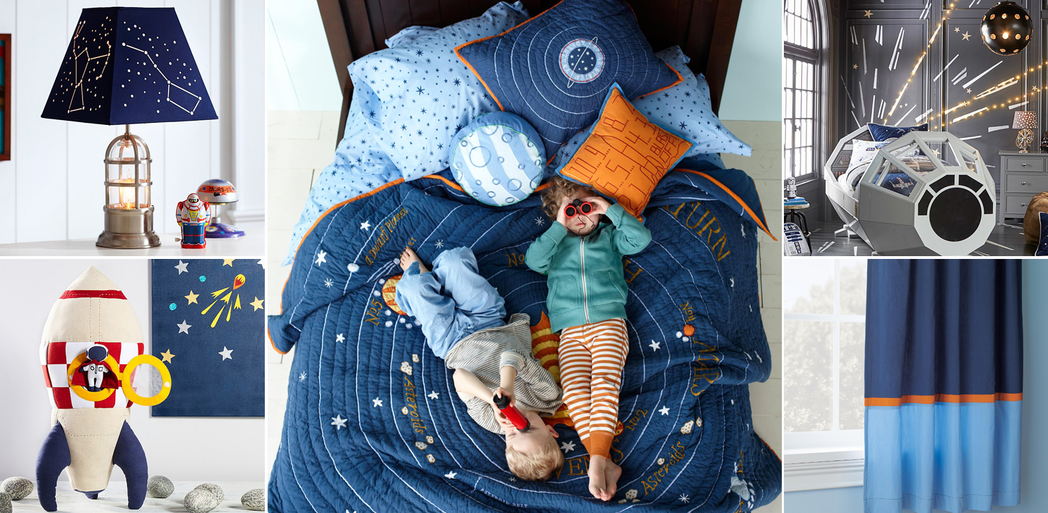Outer Space Bedroom Solar System Planets Amp Rocket