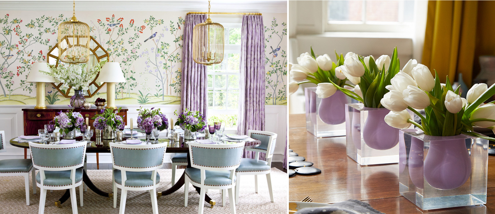 Purple decor how to decorate with purple purple home for Green decorations for home